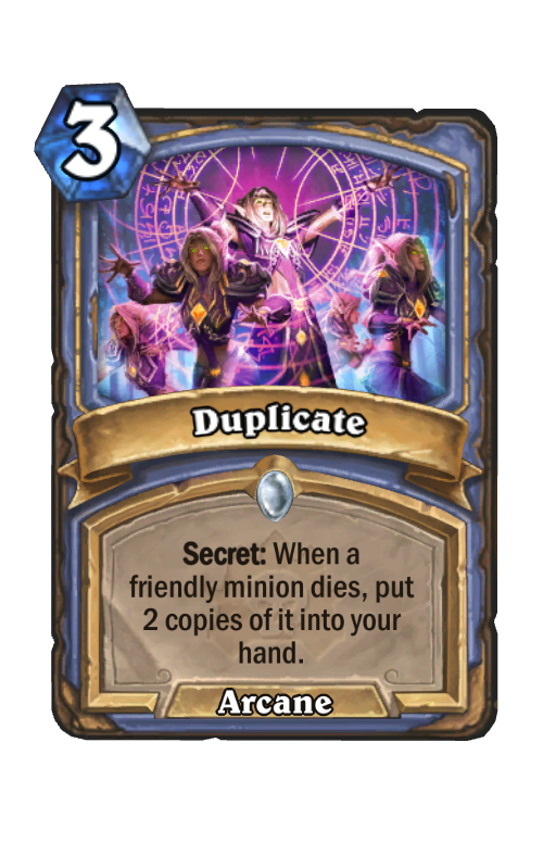 Duplicate Hearthstone kártya