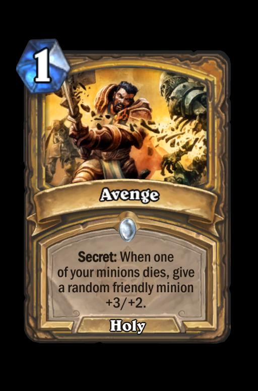 Avenge Hearthstone kártya