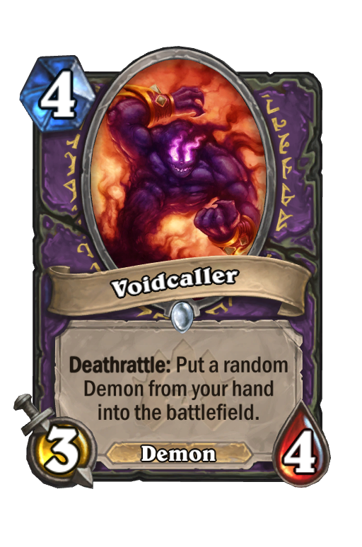 Voidcaller Hearthstone kártya