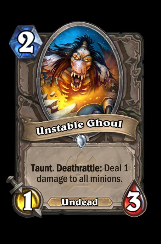 Unstable Ghoul Hearthstone kártya