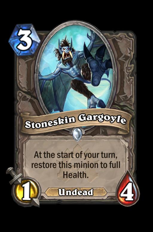 Stoneskin Gargoyle Hearthstone kártya