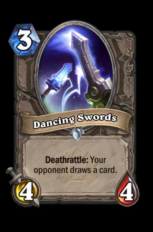 Dancing Swords Hearthstone kártya