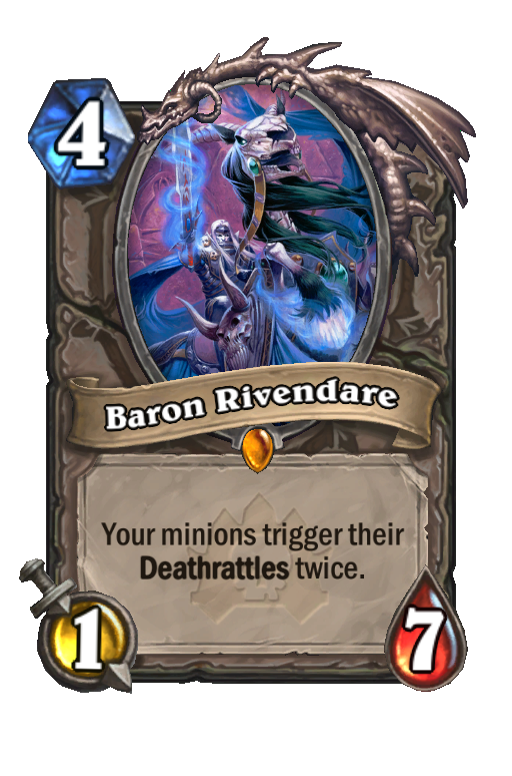 Baron Rivendare Hearthstone kártya