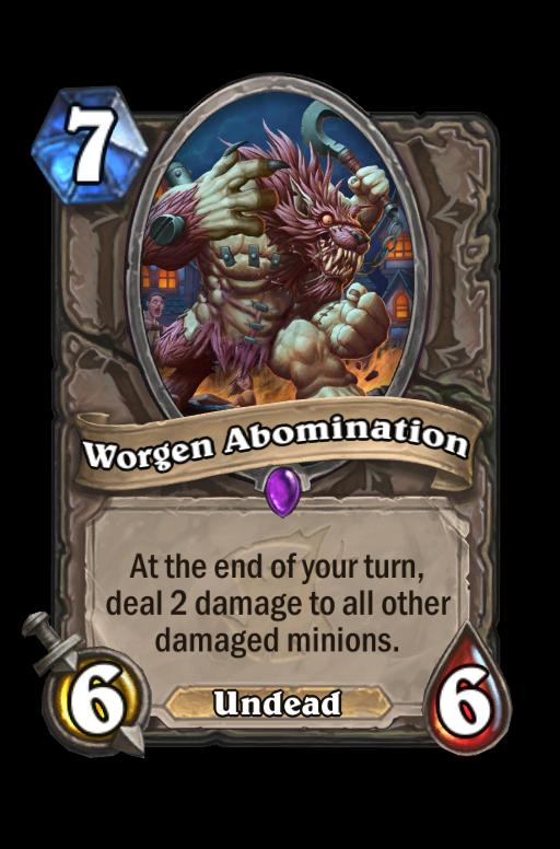 Worgen Abomination Hearthstone kártya