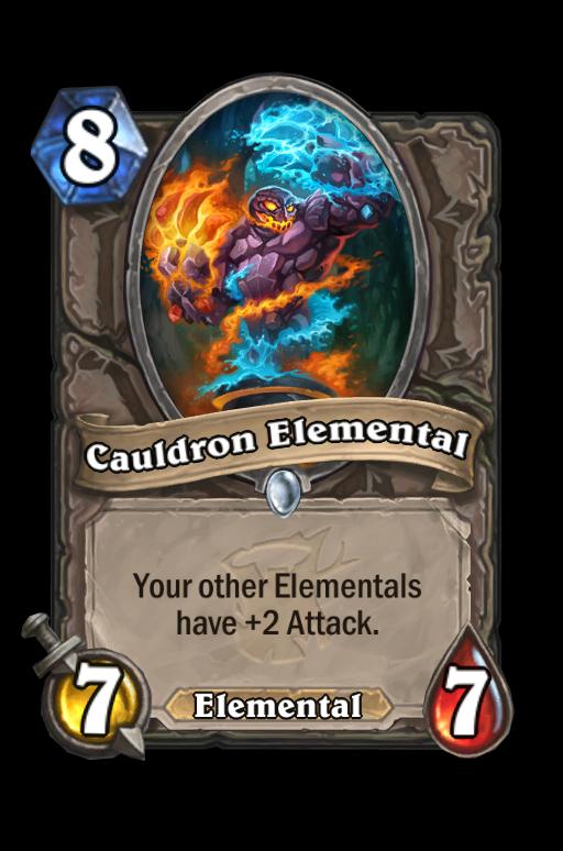 Cauldron Elemental Hearthstone kártya
