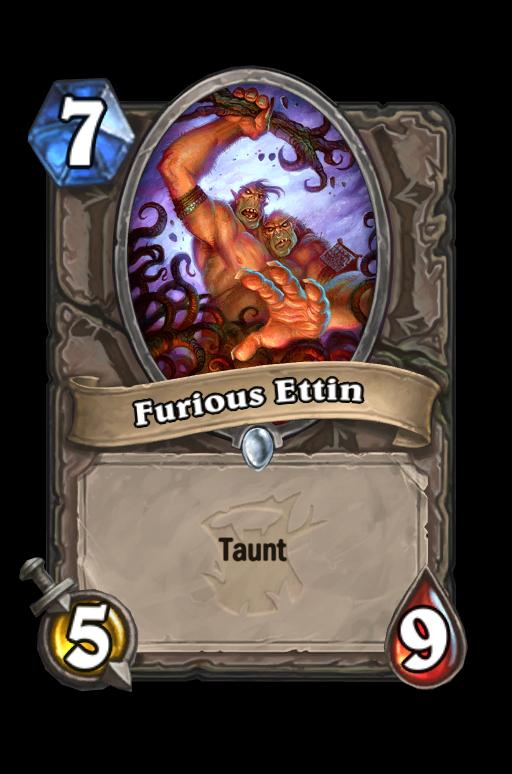 Furious Ettin Hearthstone kártya