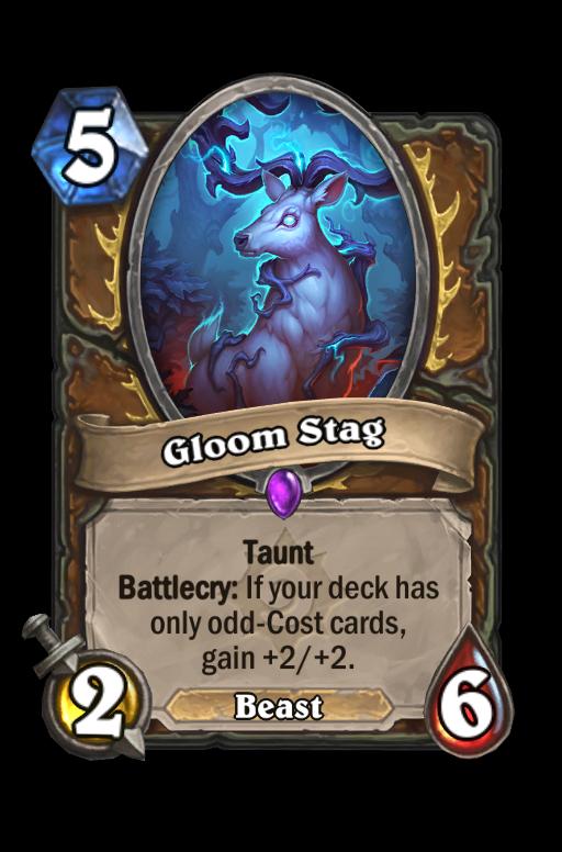 Gloom Stag Hearthstone kártya