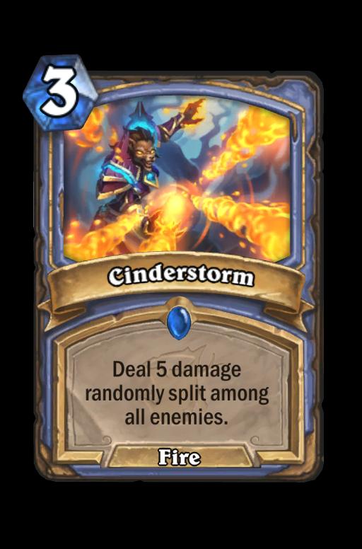 Cinderstorm Hearthstone kártya