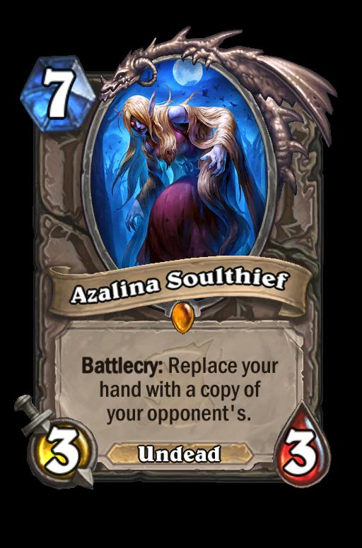 Azalina Soulthief Hearthstone kártya