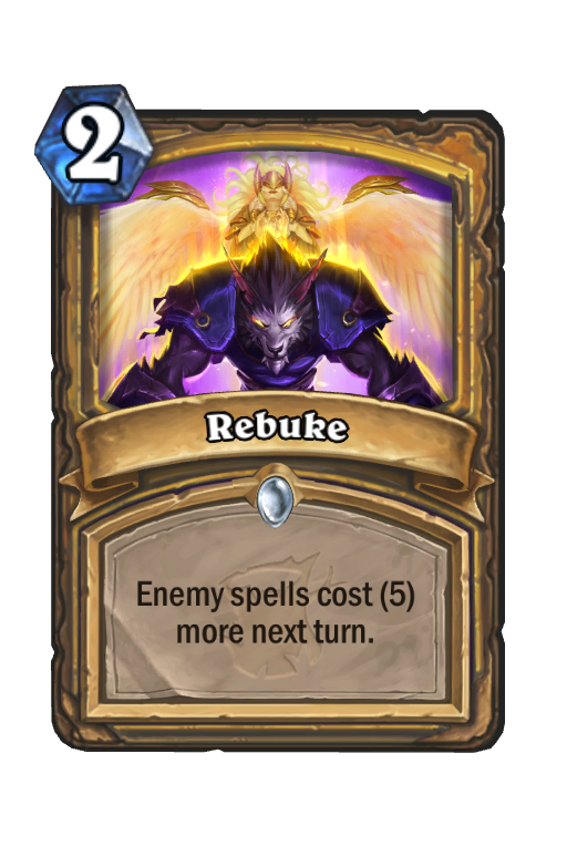 Rebuke Hearthstone kártya