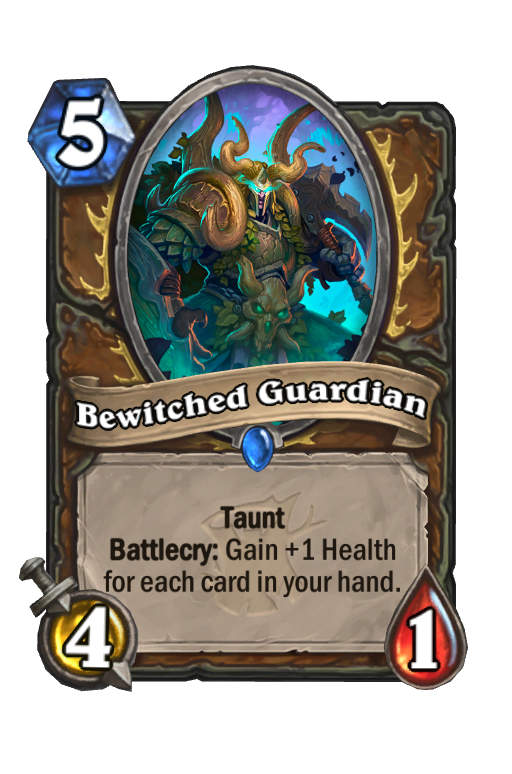 Bewitched Guardian Hearthstone kártya