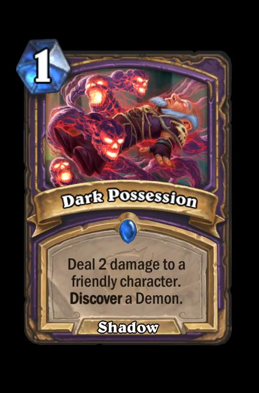 Dark Possession Hearthstone kártya