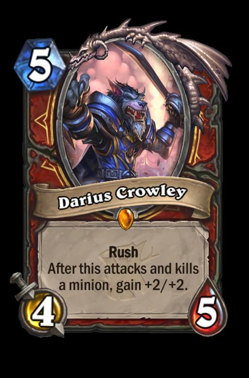 Darius Crowley Hearthstone kártya
