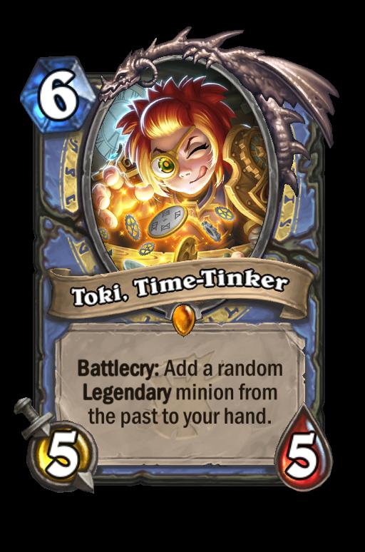 Toki, Time-Tinker Hearthstone kártya