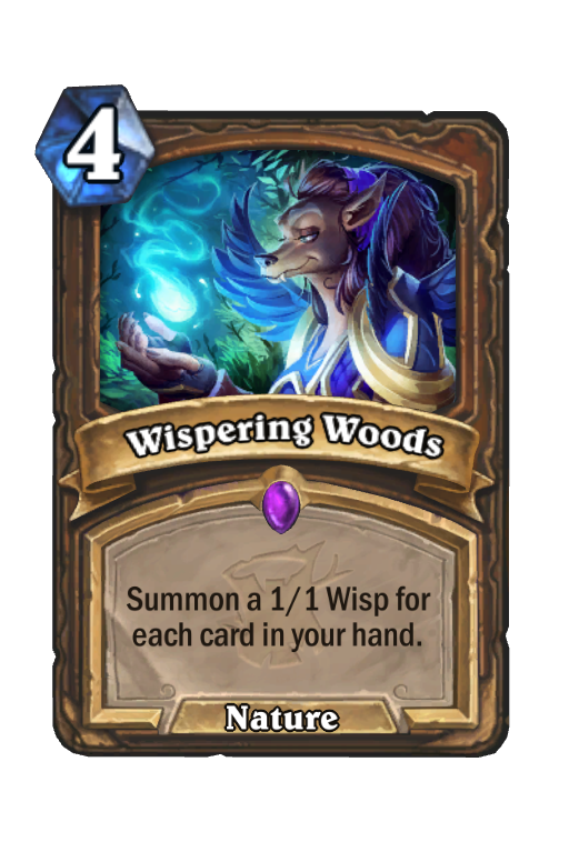 Wispering Woods Hearthstone kártya