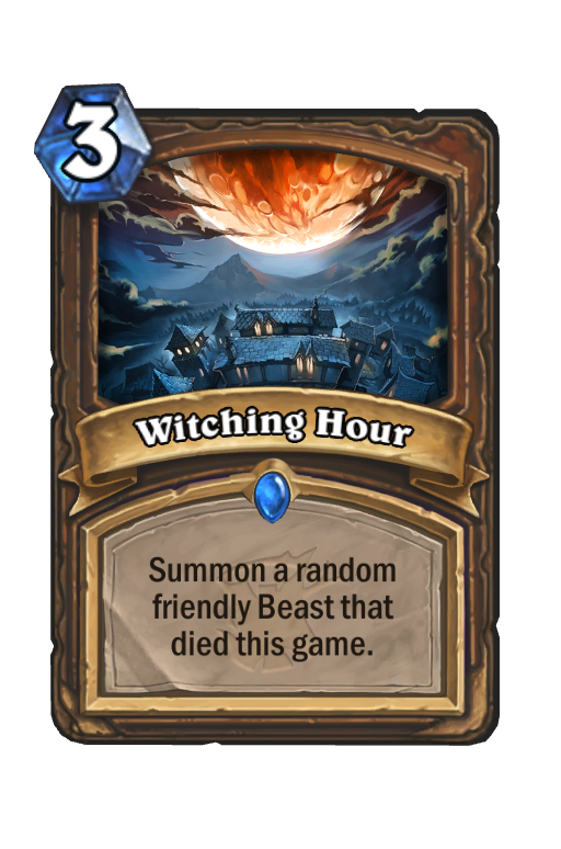 Witching Hour Hearthstone kártya