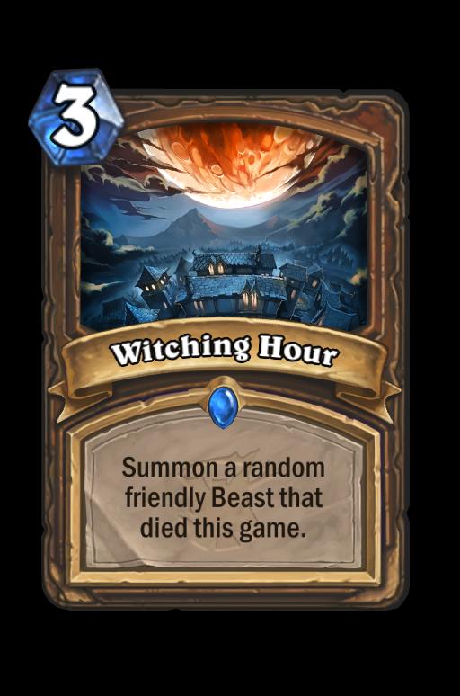 Witching Hour Hearthstone kártya