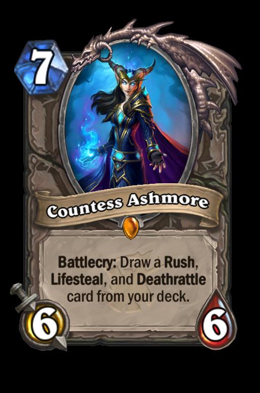 Countess Ashmore Hearthstone kártya