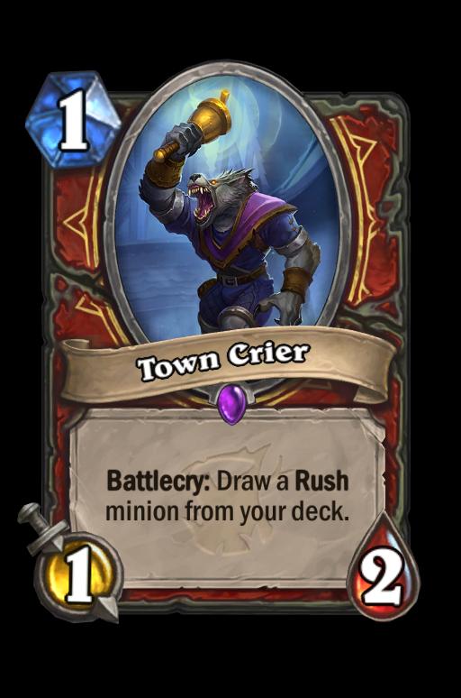 Town Crier Hearthstone kártya