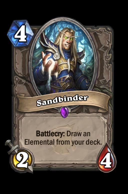 Sandbinder Hearthstone kártya