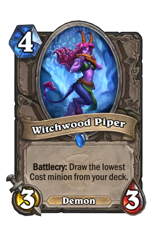 Witchwood Piper Hearthstone kártya