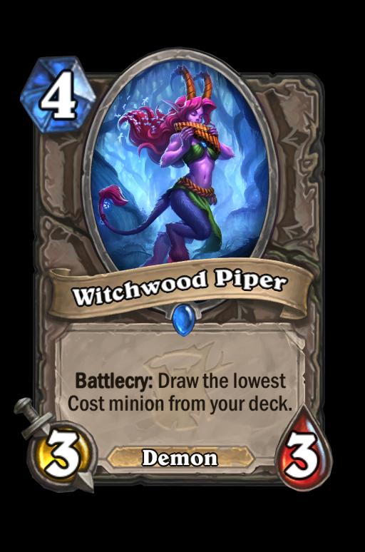Witchwood Piper Hearthstone kártya