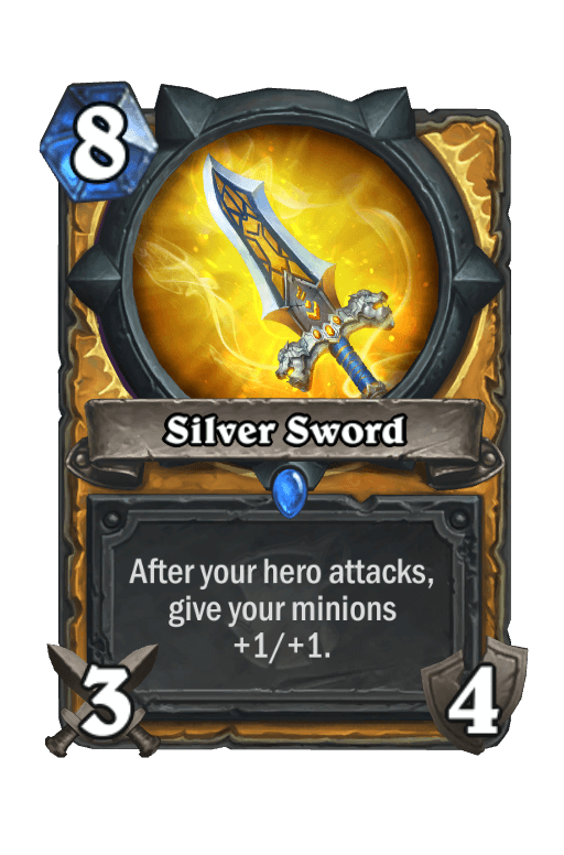 Silver Sword Hearthstone kártya