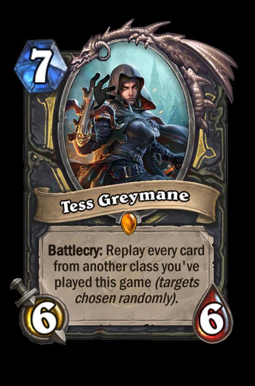 Tess Greymane Hearthstone kártya
