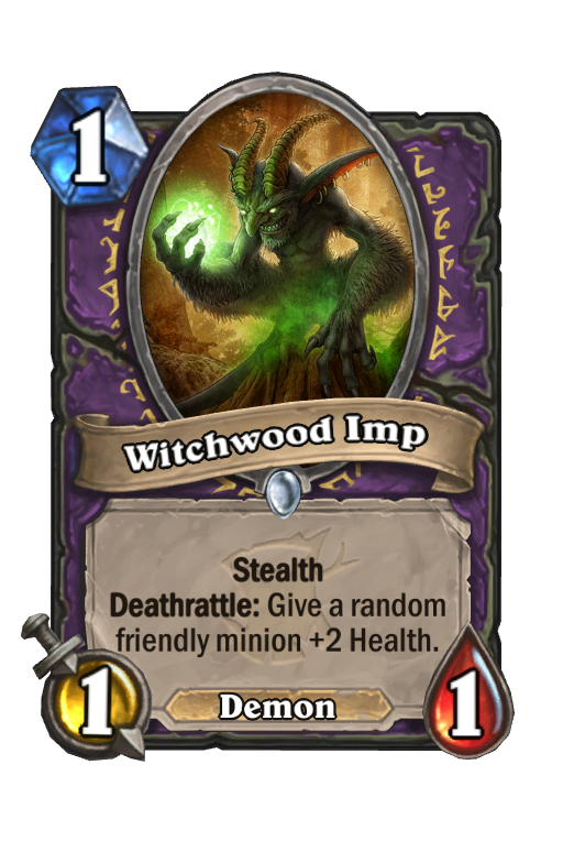 Witchwood Imp Hearthstone kártya