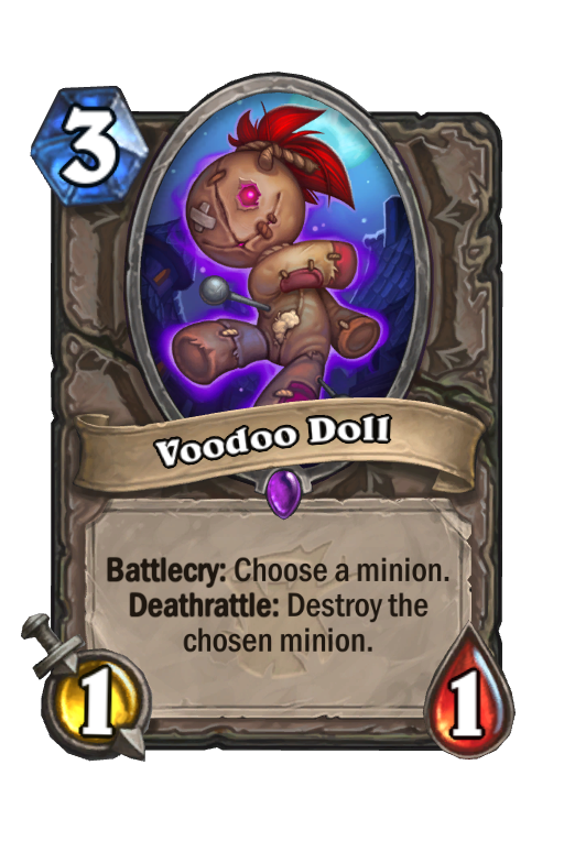 Voodoo Doll Hearthstone kártya
