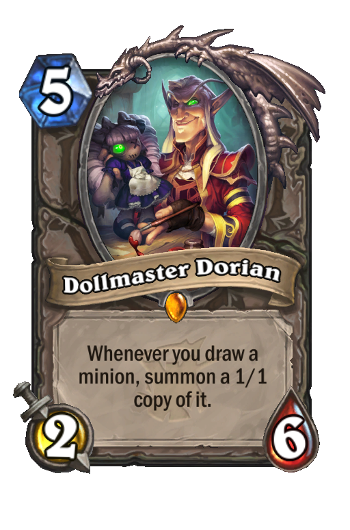 Dollmaster Dorian Hearthstone kártya