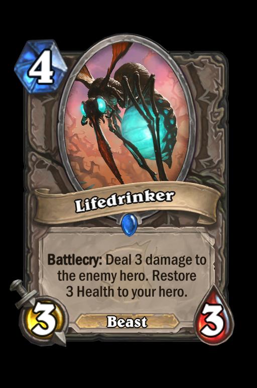 Lifedrinker Hearthstone kártya