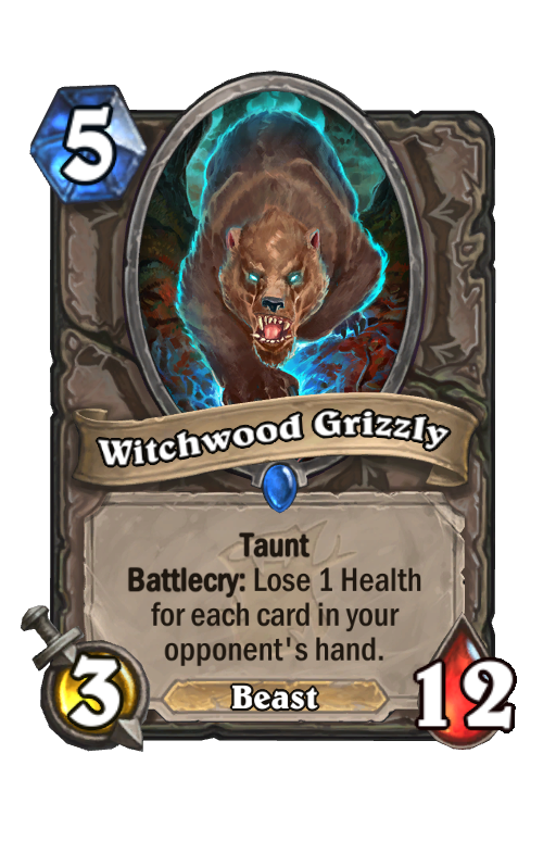 Witchwood Grizzly Hearthstone kártya