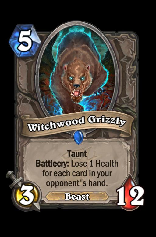 Witchwood Grizzly Hearthstone kártya