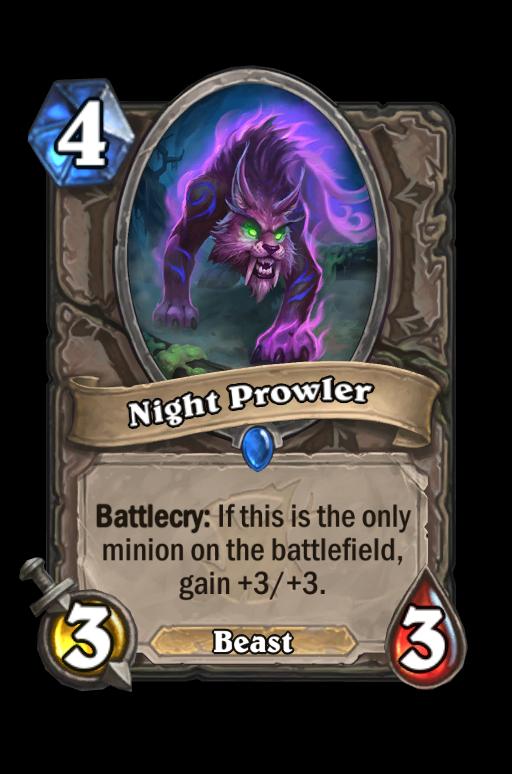 Night Prowler Hearthstone kártya