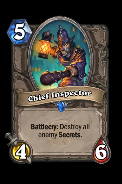 Chief Inspector Hearthstone kártya