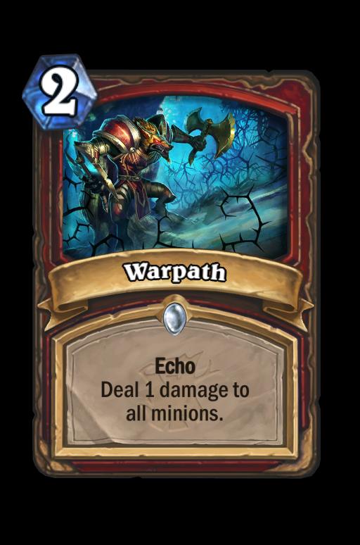 Warpath Hearthstone kártya