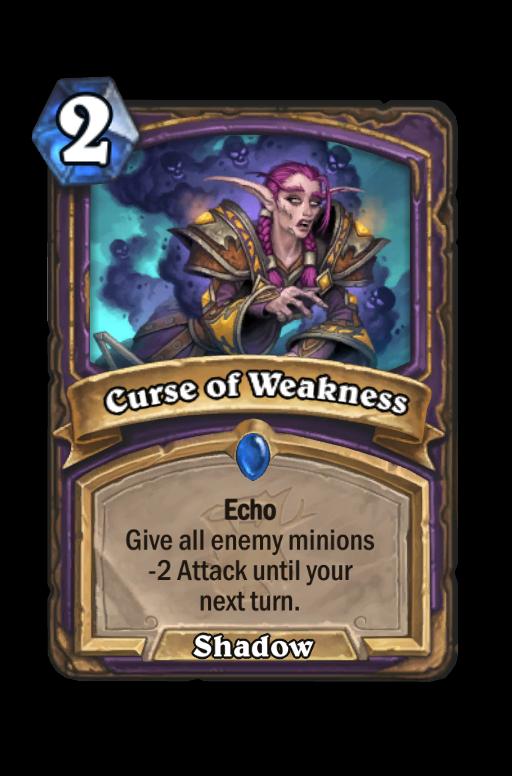 Curse of Weakness Hearthstone kártya