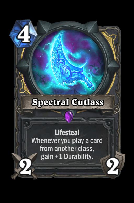Spectral Cutlass Hearthstone kártya