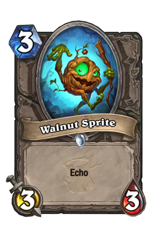 Walnut Sprite Hearthstone kártya