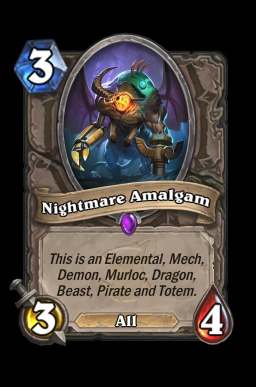 Nightmare Amalgam Hearthstone kártya