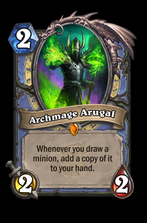 Archmage Arugal Hearthstone kártya