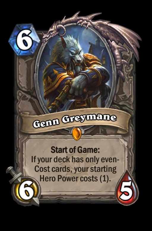 Genn Greymane Hearthstone kártya