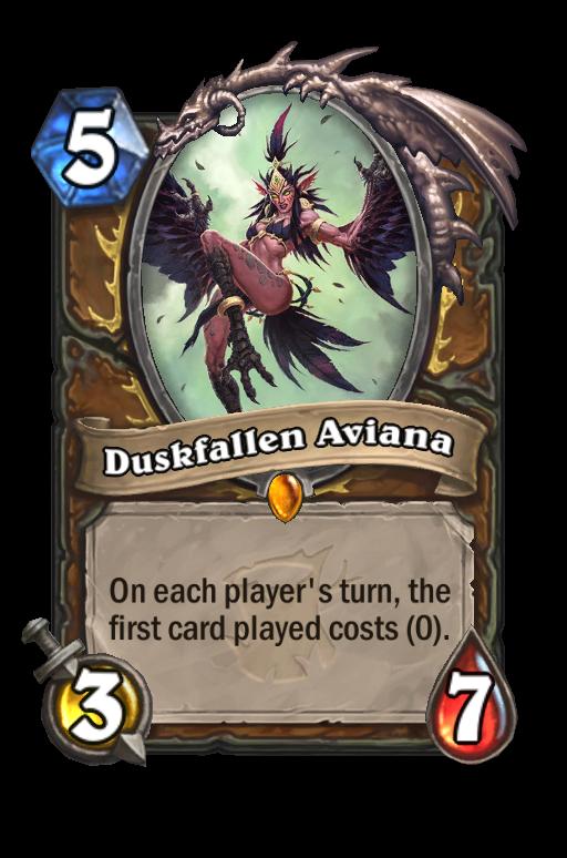 Duskfallen Aviana Hearthstone kártya