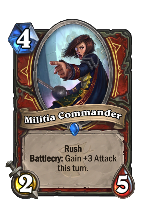 Militia Commander Hearthstone kártya