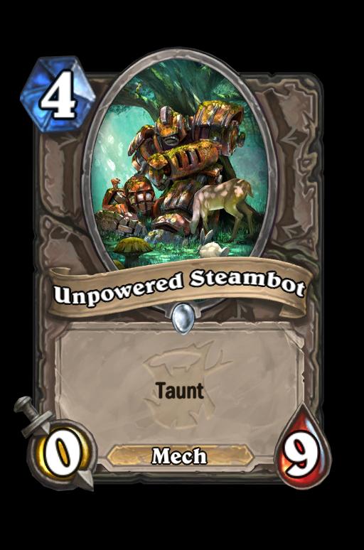 Unpowered Steambot Hearthstone kártya