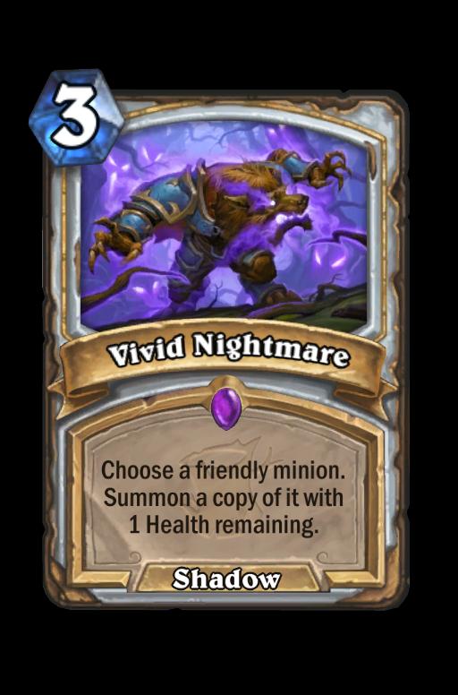 Vivid Nightmare Hearthstone kártya