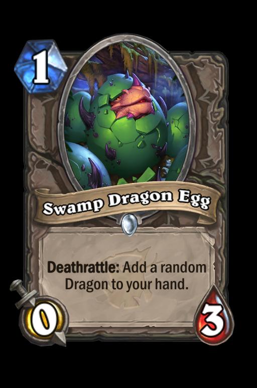 Swamp Dragon Egg Hearthstone kártya
