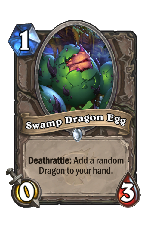 Swamp Dragon Egg Hearthstone kártya