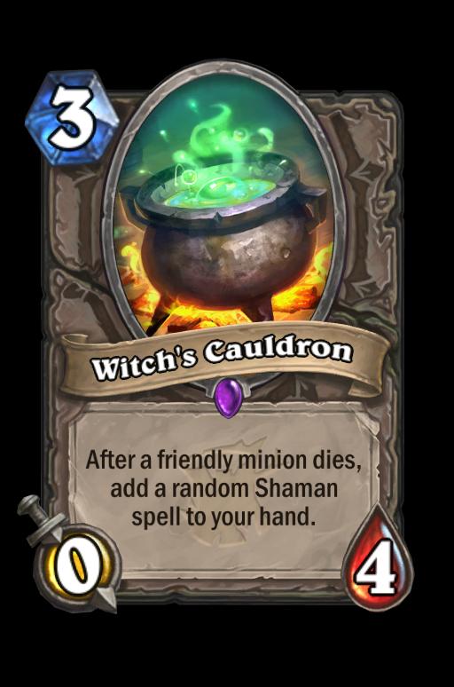 Witch's Cauldron Hearthstone kártya